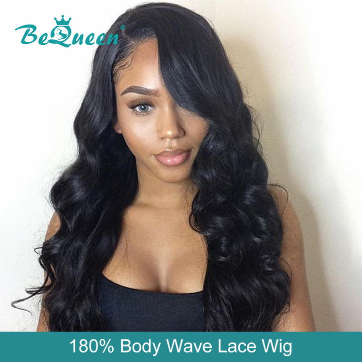 Body Wave Lace Front Wig Pre-Plucked Human Hair Wigs