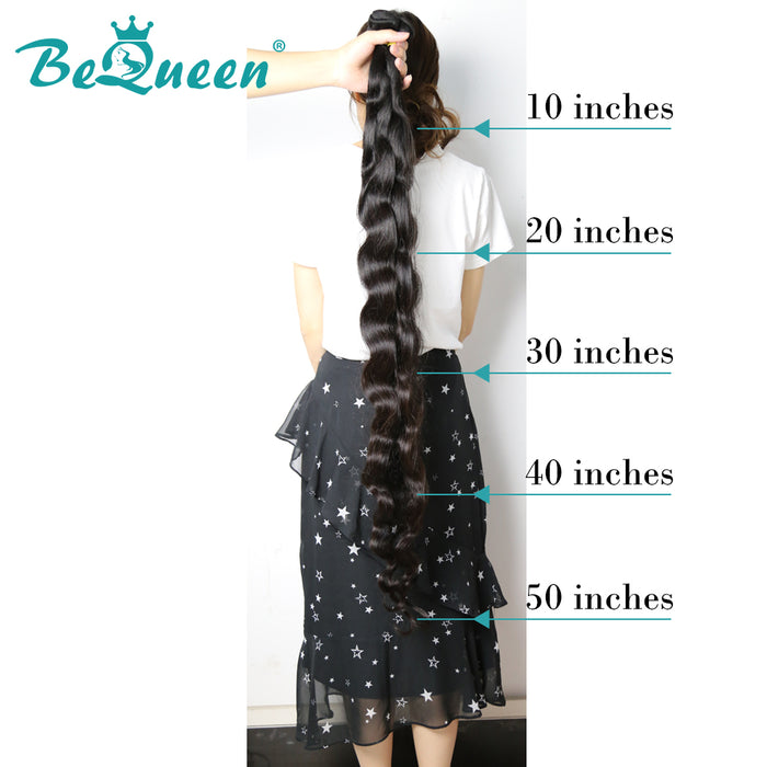【Bequeen】Free Eyelash 10A Brazilian 100% Virgin Hair Body Wave Long Lengths 32 34 36 38 40 42 44 46 inch Free Shipping, 1bundle/lot(95-100g) - Bequeen Office Store
