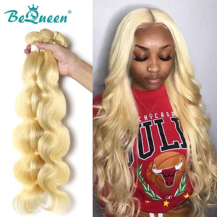 10A Virgin Hair #613 Blonde 12-34 inches Body Wave Long Hair Bundles Deal