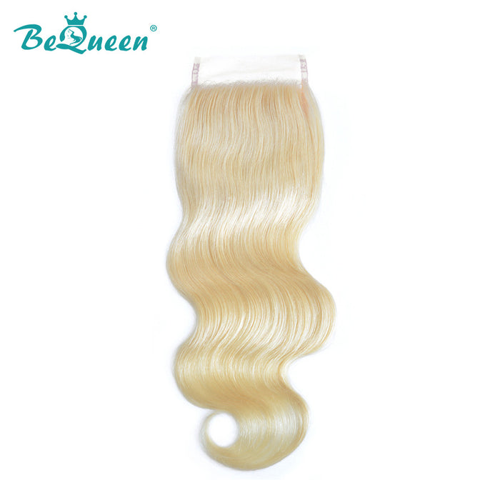 #613 Blonde Lace Closure Body Wave 4x4 Human Hair transparent lace
