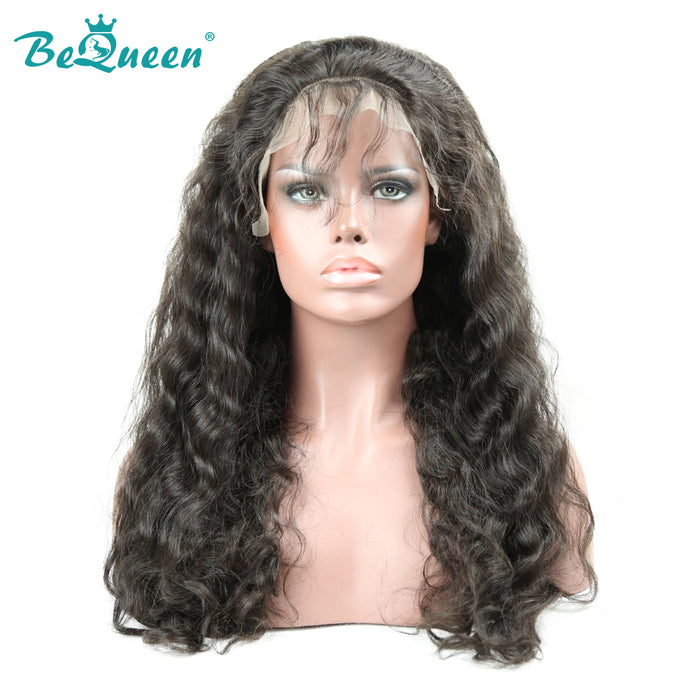 100% Human Hair Wigs Natural Wave Glueless Full Lace Wig