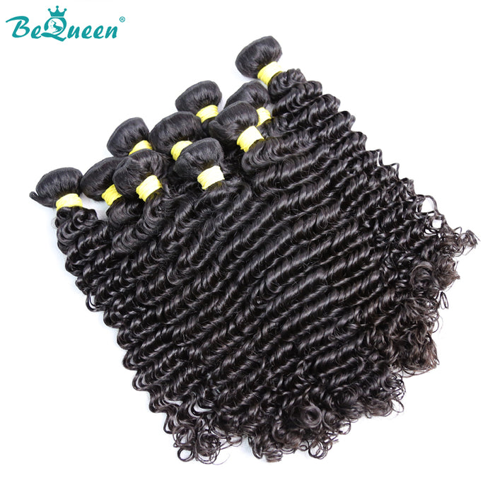 10A Cheveux humains Tisser Deep Wave Virgin Hair 10pcs En gros