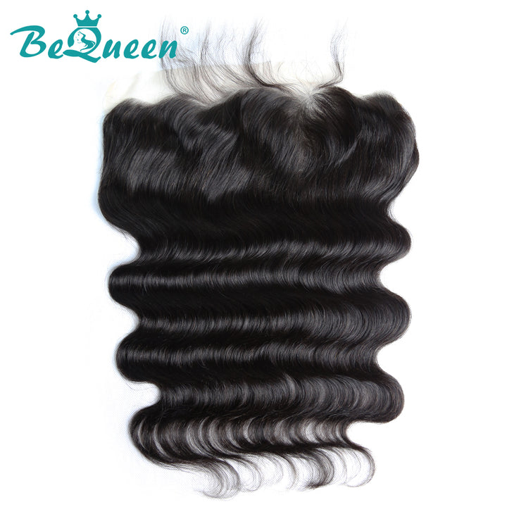 【Bequeen】Virgin Hair Body Wave Pre-plucked Lace Frontal with Baby Hair Bleached Knots 100% human hair with free shipping - Bequeen Office Store