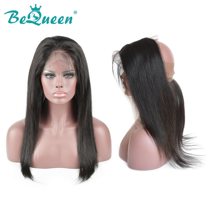 【Bequeen】10A Virgin Hair Straight Pre-plucked 360 Lace Frontal( Band) with Baby Hair Bleached Knots, free shipping - Bequeen Office Store