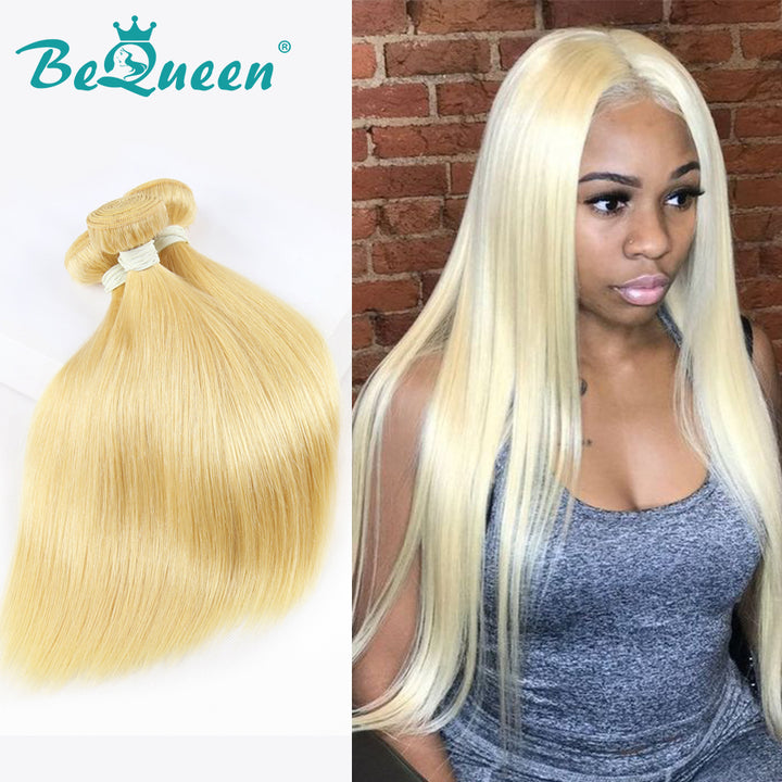 100% Virgin Hair Straight Bundles 613'Couleur Blonde