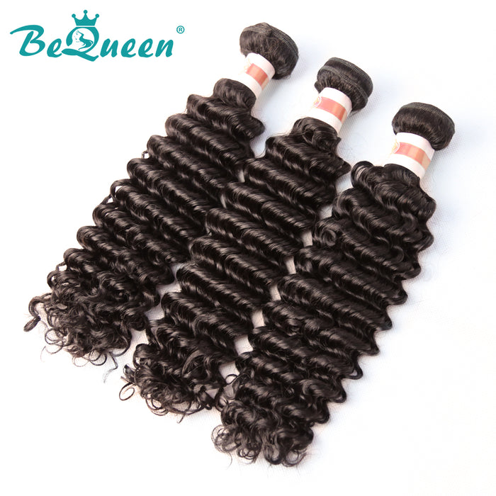 【Bequeen】10A Malaysian 100% Virgin Hair Deep Wave Bundles 8-30 inches free shipping - Bequeen Office Store