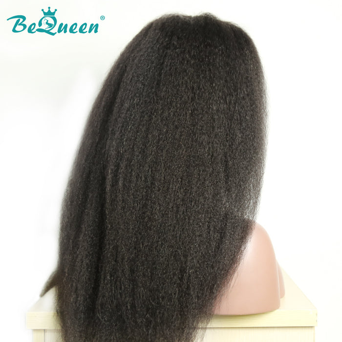 Kinky Straight 360 Full Lace Frontal Wig Pré-plucked Perruques cheveux humains
