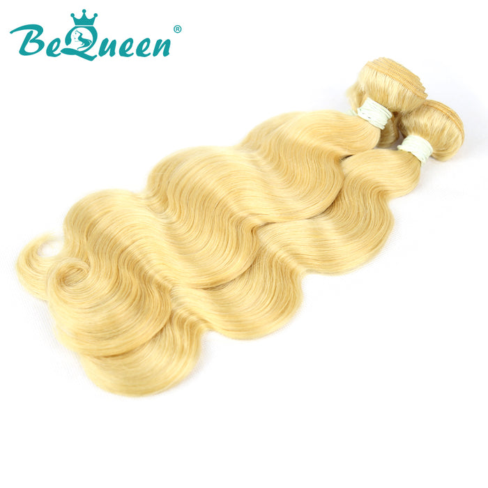 【Bequeen】10A Brazilian 100% Virgin Hair Body Wave Bundles 613# Blonde Color 12-26 inches Available Factory Price - Bequeen Office Store