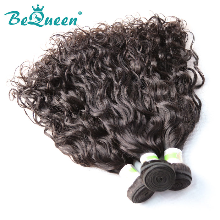 【Bequeen】10A Brazilian 100% Virgin Hair Water Wave Bundles 12-28 inches free shipping - Bequeen Office Store