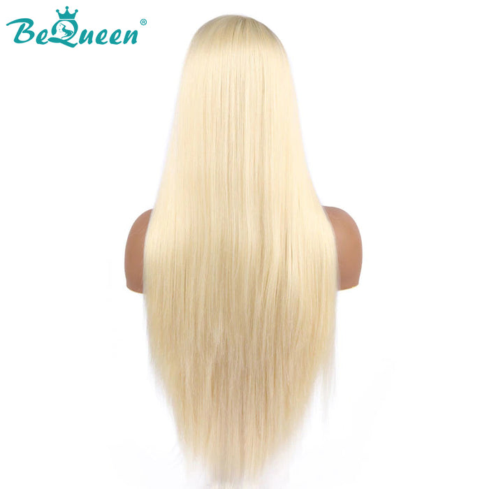 Color Blonde #613 Straight Hair Human Lace Wig