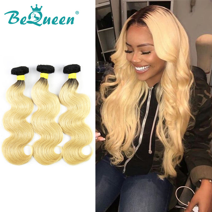 100% Virgin Hair Body Wave Bundles Color Root 1B/613