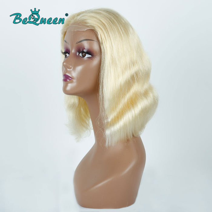 #613 Straight 4x4 Closure Bob Wig 180% Density Body Wave Closure Wig