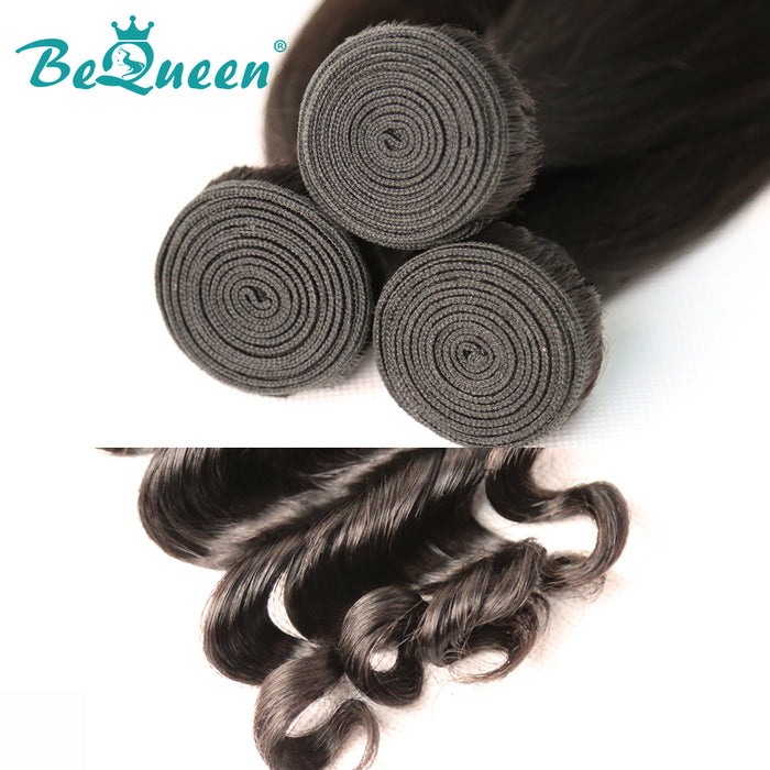 【Bequeen】10A Indian 100% Virgin Hair Natural Wave Bundles 8-30 inches available - Bequeen Office Store