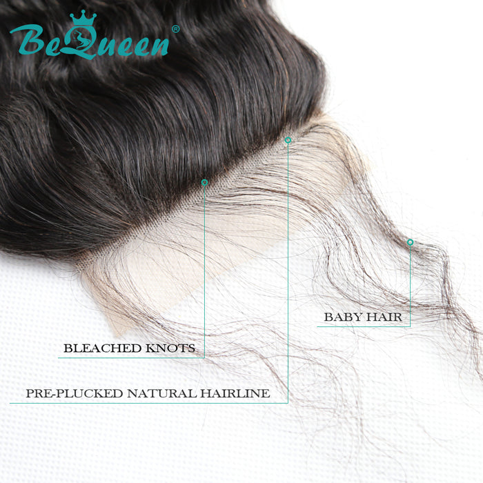 【Bequeen 】10A 100% Virgin Hair Deep Wave Lace Closure 4x4/ 5x5, Silk Based Closure - Bequeen Office Store