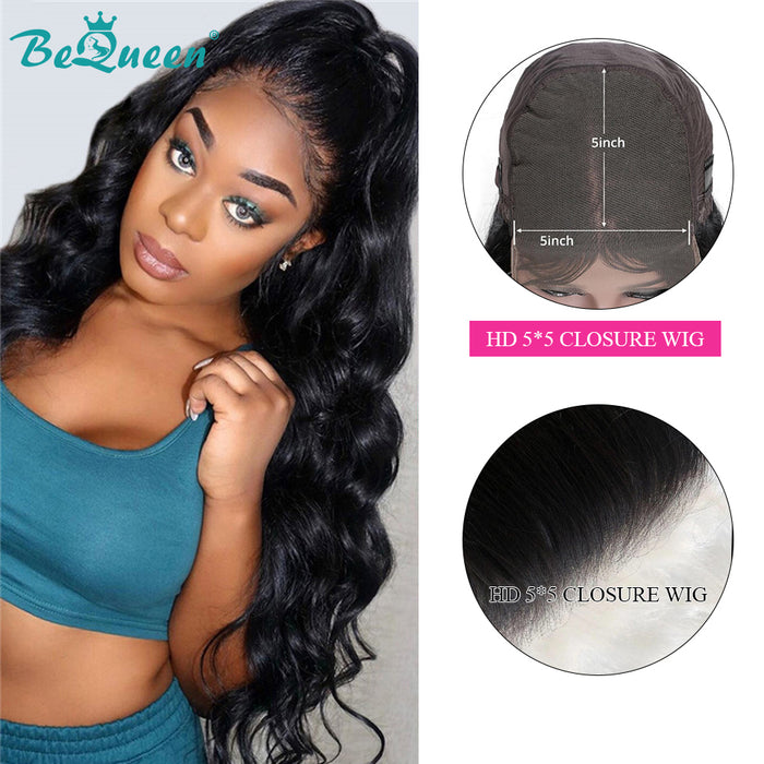 Undetectable HD Lace 5x5 Lace Closure Wig 250% Density 100% Human Hair Wig
