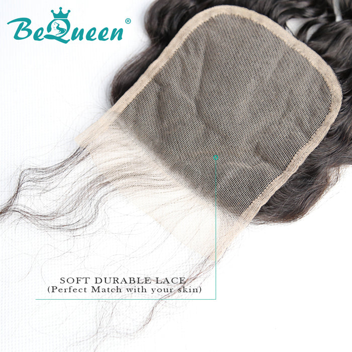 【Bequeen 】10A 100% Virgin Hair Curly Hair Lace Closure 4x4/ 5x5, Silk Based Closure - Bequeen Office Store
