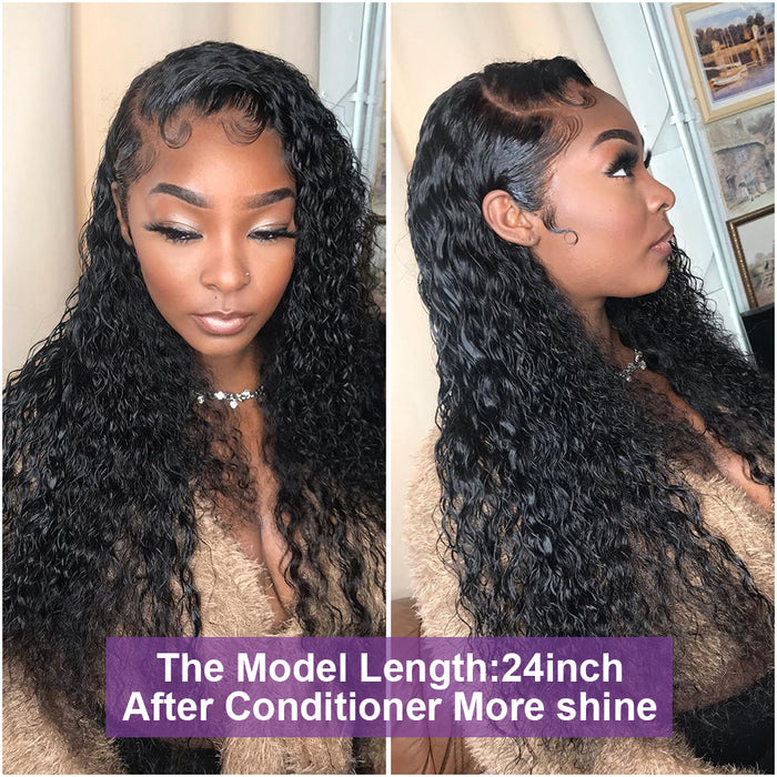Pré-plucked Deep Curly 360 Lace Frontal Wig Kinky Curly Human Hair Wigs