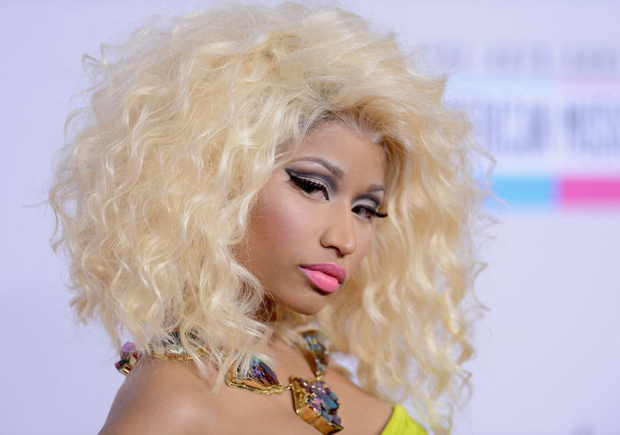 Nicki Minaj Blast Curl Colorful Front Lace Wig High-End Customized 100% Human Wig