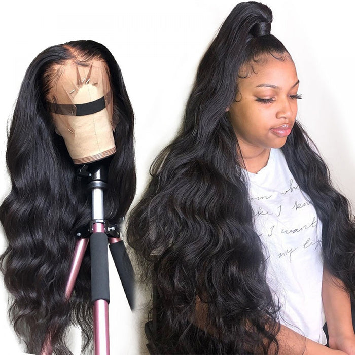 Pré-plucked 360 Full Lace Frontal Wig Body Wave Human Hair Wigs