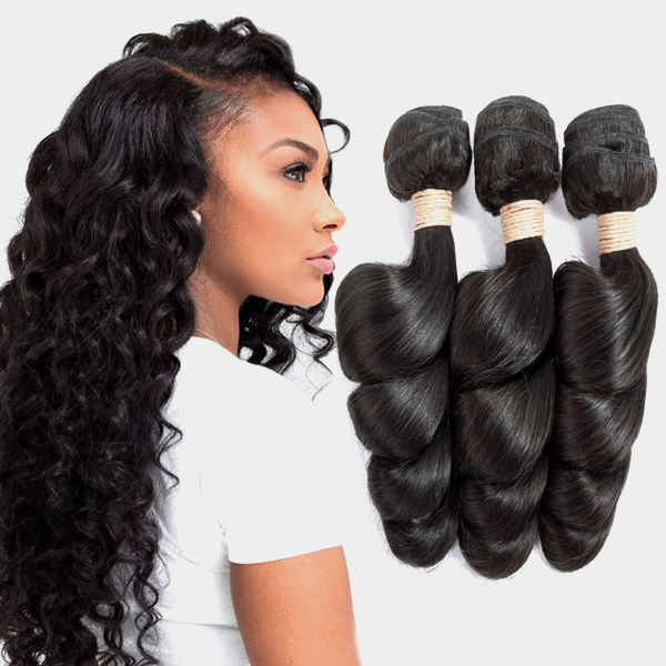 10A Brazilian 100% Virgin Human Hair Weave Loose Wave Hair Bundles