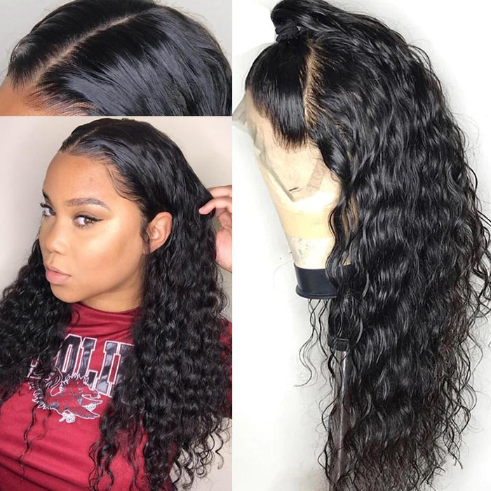Pre-Plucked Water Wave Human Hair Full Lace Wig