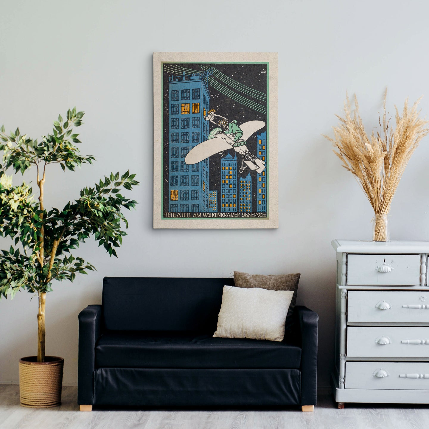 Plane Love Canvas Print