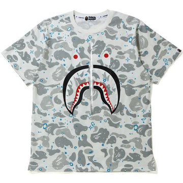 BAPE Space Camo Shark Tee White Glow in the Dark