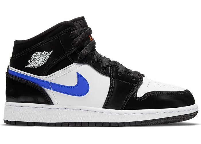 Jordan 1 Mid Black Racer Blue White (GS)