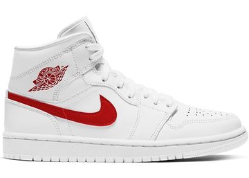 Jordan 1 Mid White University Red (W)