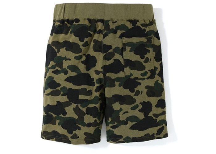 Bape 1st Camo Sweat Shorts Green