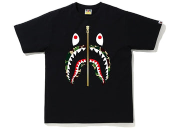 BAPE ABC Camo Shark Tee Black/Green