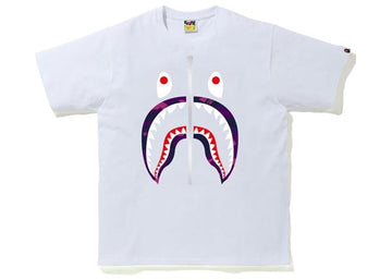 BAPE Color Camo Shark T-Shirt (SS20) White/Purple