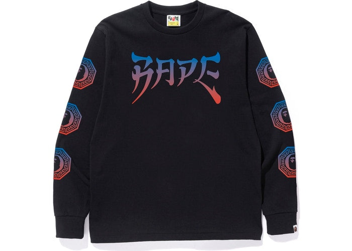 BAPE Graphic L/S Tee Black