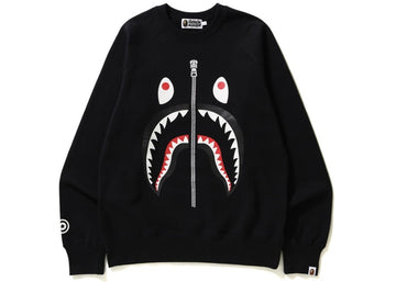 Bape Shark Crewneck Black