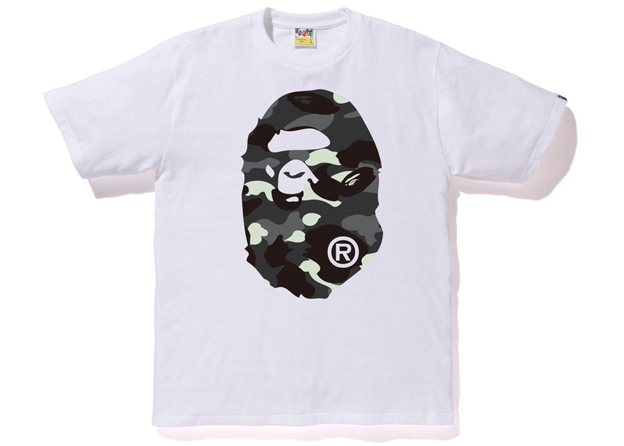 BAPE City Camo Big Ape Head Tee White/Black