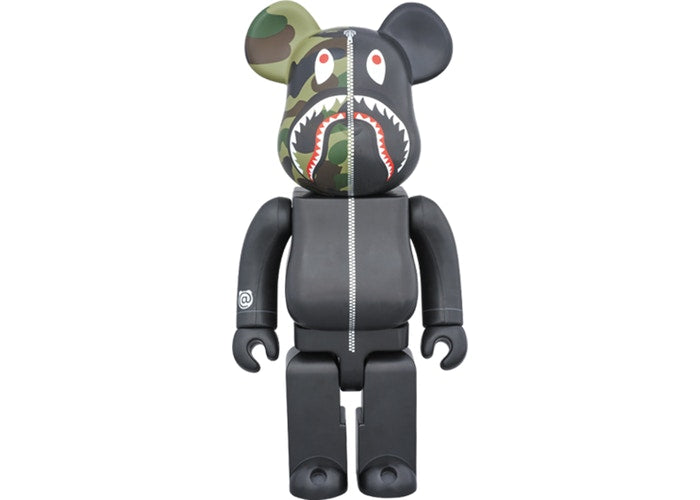Bearbrick x Bape 1st Camo Shark 1000% Black