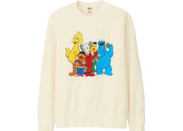 KAWS x Uniqlo x Sesame Street Group #2 Sweatshirt Natural