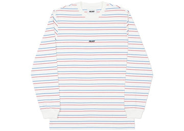 Palace Basically a Stripe Longsleeve White/Blue/Red