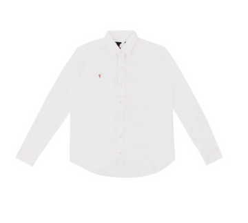 Vlone Embroidered Long Sleeve Button Up White