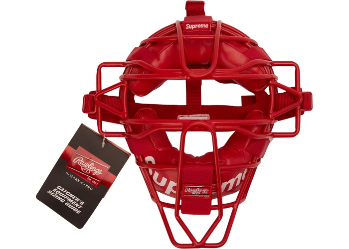 Supreme Rawlings Catcher's Mask Red