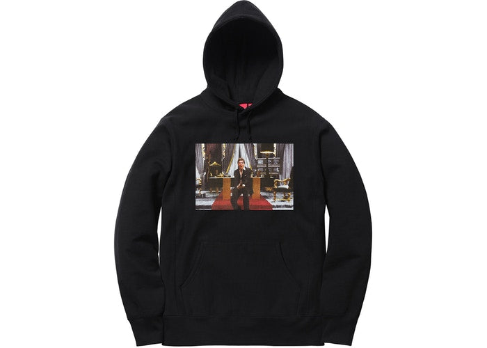 Supreme Scarface Friend Hooded Sweatshirt Black