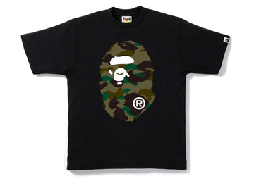 Bape tee Big head 1st camo green