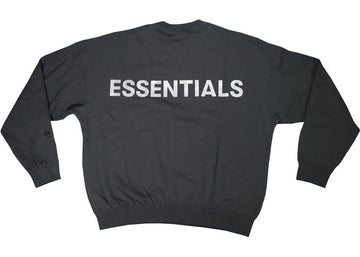 FEAR OF GOD ESSENTIALS 3M Logo Crewneck Sweatshirt Black/White
