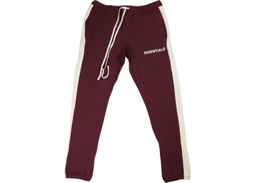 FEAR OF GOD Essentials Side Stripe Sweatpants Burgundy