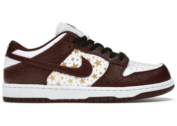 Nike SB Dunk Low Supreme Stars Barkroot Brown