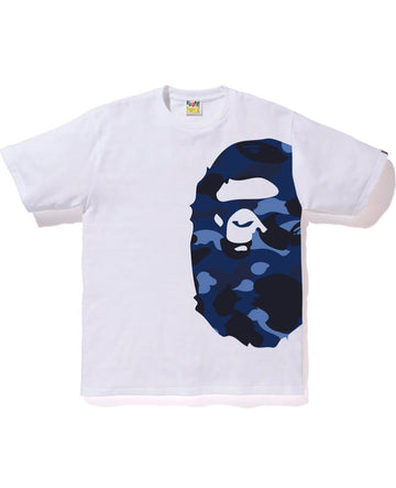 BAPE Gradation Camo Side Big Ape Head Tee Tee White/Blue