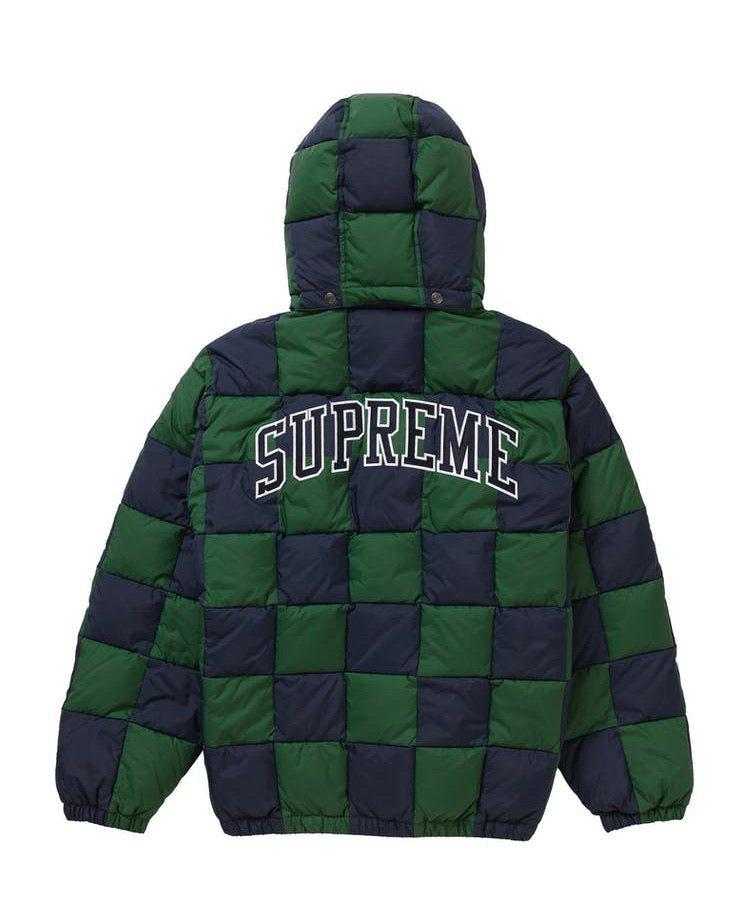 Supreme Checkerboard Puffy Jacket (Navy)