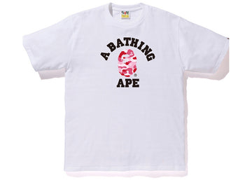 Bape ABC College Tee White/Pink