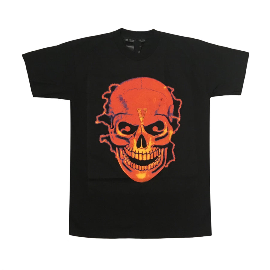 Vlone Black Shocker Skull Tee
