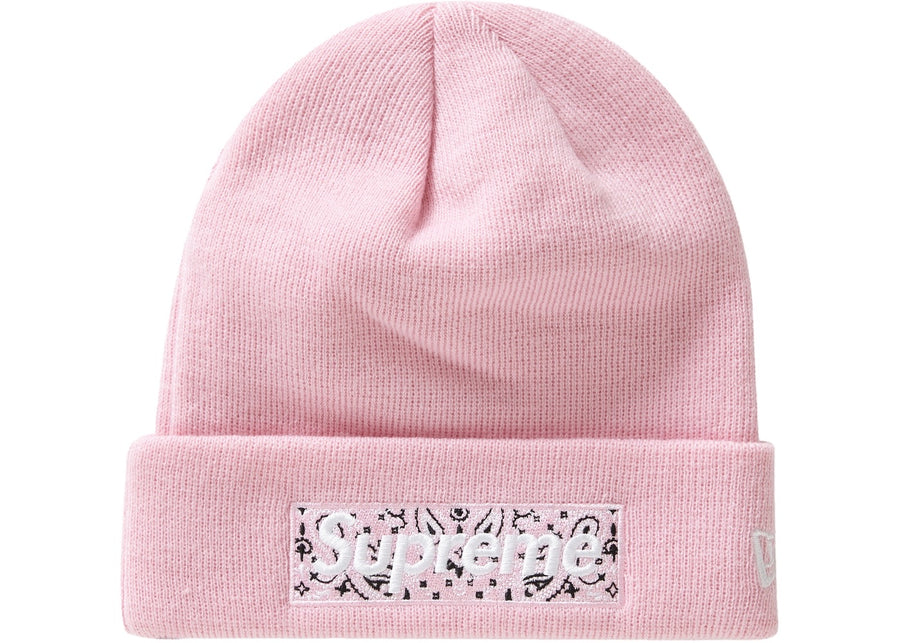Supreme New Era Box Logo Beanie (FW19) Pink